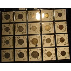 37. Plastic Coin Page containing (20) Coins from Papua New Guinea, Philippines, Portugal, Saudi Arab