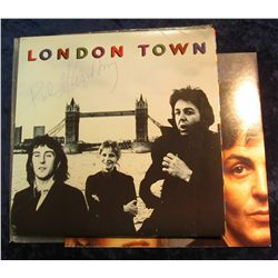 "47. Paul Mc Cartney autograph on album cover with record. ""London Town"". Mint condition."