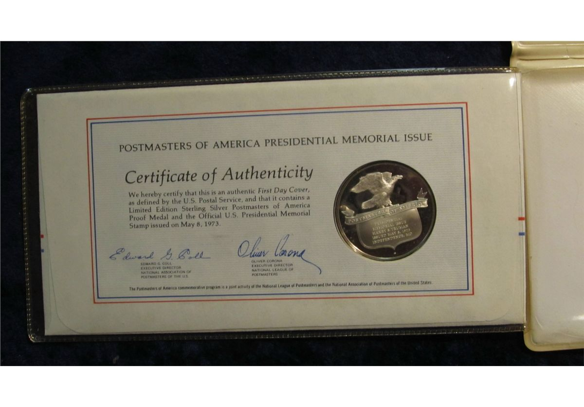 523 1973 In Memory Of Harry S Truman 1884 1972 First Day Cover
