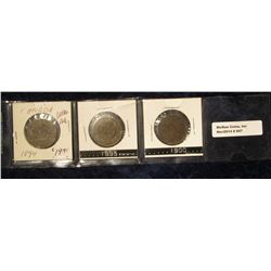 847. 1894, 1895, & 1900  Canada Large Cents. Grades up to F.