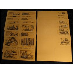 905. This is a lot of (6) Sets of 3 Tourism Year of the Americas '72 Post Cards. All cards of differ