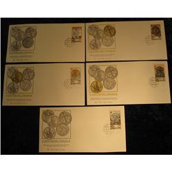 911. (4) Czechoslovakia 650th Anniversary of the National Mint at Kremnica Commemorative coins issue