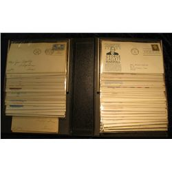 """912. Large Album with Postal Covers """"Covers Marquis II Fleetwood"""". Includes 1953, 1955, 1966-68 Unit"""