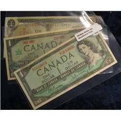 1123. Series 1954, 1867-1967, 1973 Bank of Canada $1 Notes.
