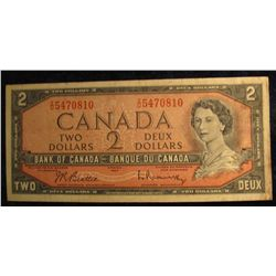 1125. Series 1954 Bank of Canada $2 Note.