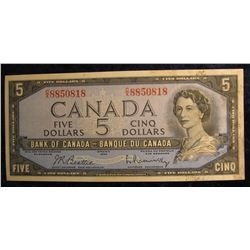 1126. Series 1954 Bank of Canada $5 Note.