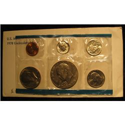 1130. 1978 P U.S. Mint Set in original envelope and cellophane. (half set) Includes Cent to Eisenhow