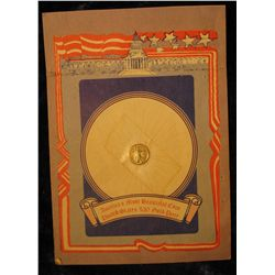1141. 24K Gold-Electroplated Miniature $20 St. Gaudens Gold Piece with literature.