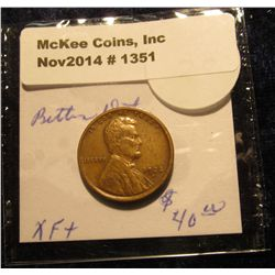 1351. 1922 D Lincoln Cent. Key date. EF. Bid is $30.00.