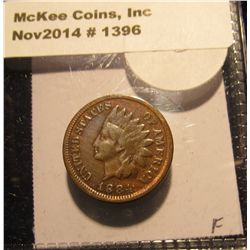 1396. 1884 Indian head Cent. F-12.