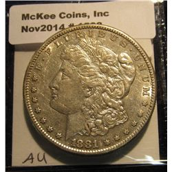 1533. 1881 S Morgan Silver Dollar. AU 50.