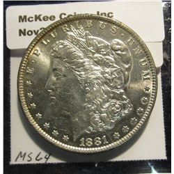 1534. 1881 O Morgan Silver Dollar.  BU. Book value is $65.00.