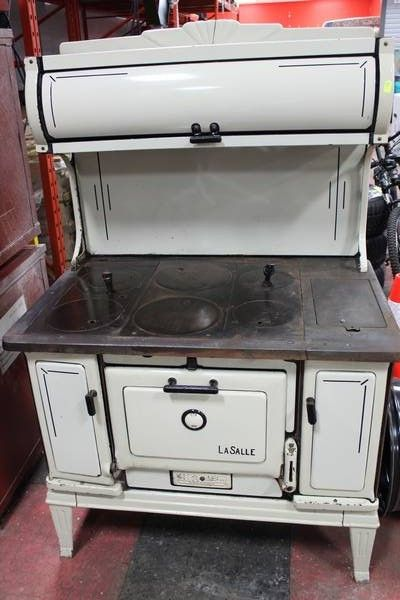 1920's lasalle antique wood burning kitchen stove