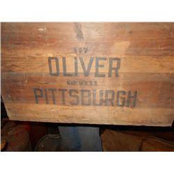 Oliver of Pittsburgh Wooden Crate
