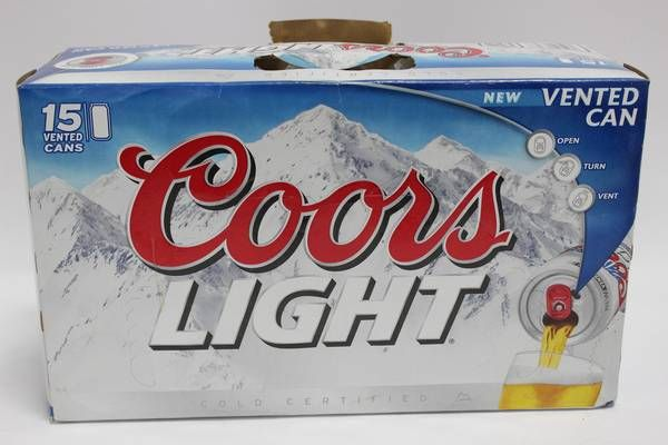 Image 1 : CASE OF 15 COORS LIGHT BEER CANS