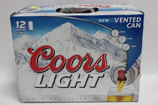 Image 1 : CASE OF 12 COORS LIGHT BEER CANS