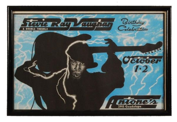 stevie ray vaughan antone 39 s austin concert poster. Black Bedroom Furniture Sets. Home Design Ideas