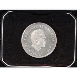 Zambia Independance Crown 1965, Proof in box of issue