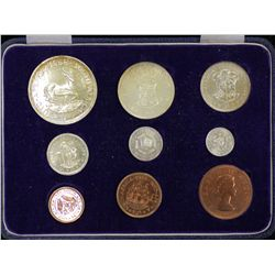 South Africa 1958 Proof Set, Housed in original box of issue
