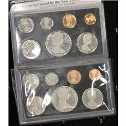 New Zealand Proof Sets 1972 & 1975 (dollars are silver, 1972 scarce )