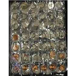 NZ decimal Proof Coins 1c to 50c , 83 coins,mostly 1970's & 80s