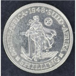 South Africa Shillings 1948 & 1950 Proof, the 1948 scarce low mintage