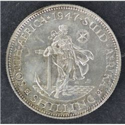South Africa 1947 Shilling Proof Scarce issue