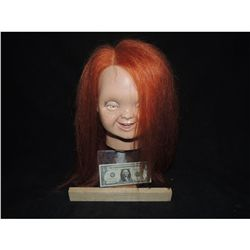 CURSE OF CHUCKY GOOD GUY HEAD WITH LONG UNTRIMMED HAIR HEAVY METAL CHUCKY