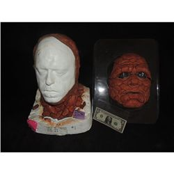 FANTASTIC 4 THING SCREEN USED HERO #1 FULL HEAD WITH FACE ON MICHAEL CHIKLIS LIFE CAST