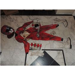MIGHTY MORPHIN POWER RANGERS SCREEN USED RED RANGER SUIT FROM PILOT COMPLETE