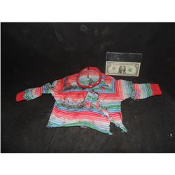 SEED OF CHUCKY SCREEN WORN BLOODY PUPPET SWEATER FROM AXE HIT SHOT