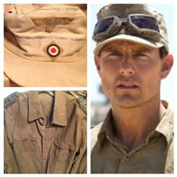 VALKERIE SCREEN WORN & MATCHED TOM CRUISE WWII DESERT HAT AND SHIRT