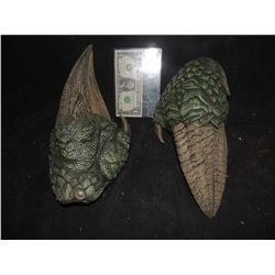 LAND OF THE LOST SCREEN USED SLEESTAK HANDS MATCHED PAIR OF STUNTS 1