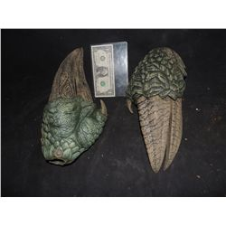 LAND OF THE LOST SCREEN USED SLEESTAK HANDS MATCHED PAIR OF STUNTS 2