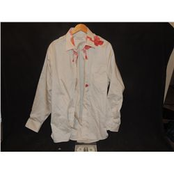 THE WALKING DEAD BLOODY ROTTEN ZOMBIE BUTTON DOWN SHIRT 29
