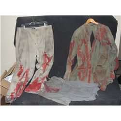 THE WALKING DEAD BLOODY ROTTEN ZOMBIE COMPLETE TATTERED WARDROBE