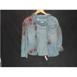 THE WALKING DEAD BLOODY ROTTEN ZOMBIE BUTTON DOWN SHIRT 10