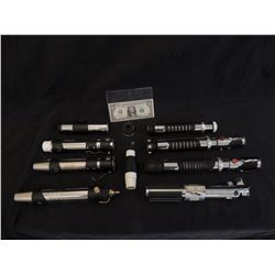 STAR WARS THE PHANTOM MENACE COLLECTION OF PROTOTYPE LIGHTSABERS FROM ORIGINAL PRODUCTION