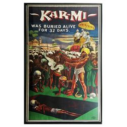 FULL MOON ORIGINAL KARMI MAGIC FAKIR 3 SHEET POSTER