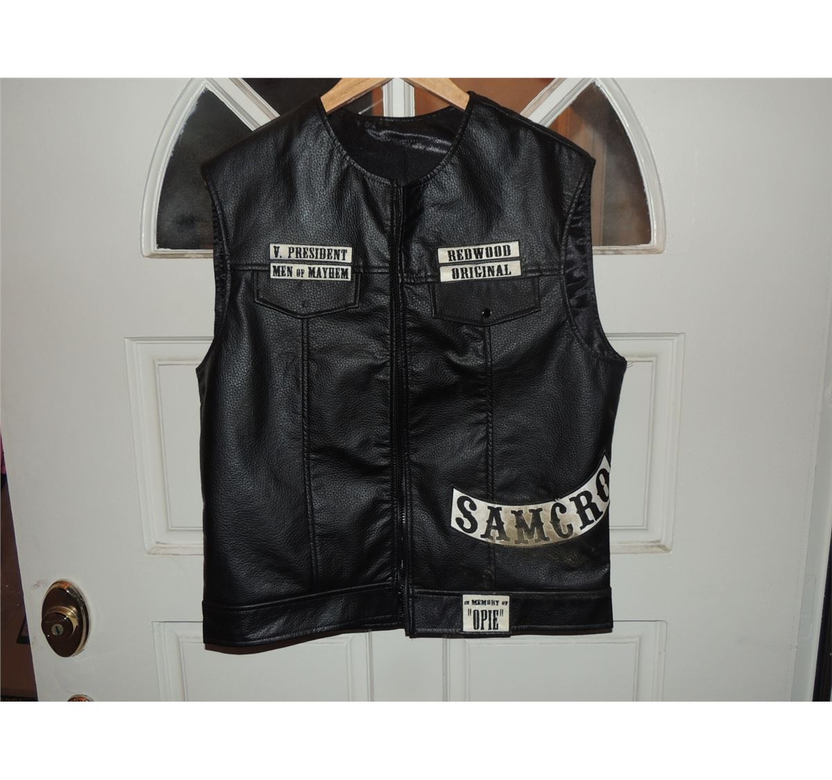 sons of anarchy jax teller cut with patches. Black Bedroom Furniture Sets. Home Design Ideas