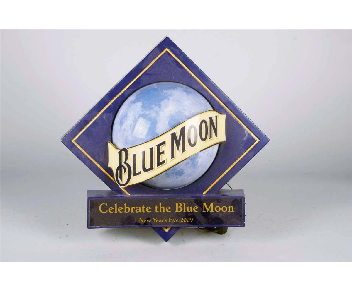 Blue Moon New Year's Eve 2009 3D Light-Up Sign  Blue Moon New Y...
