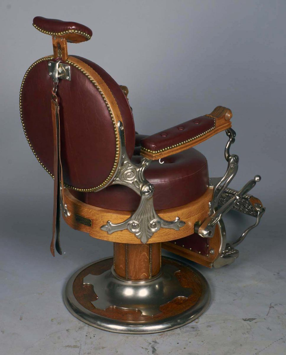 ... Image 2  Round Back Koken Barber Chair And Strop & Round Back Koken Barber Chair And Strop