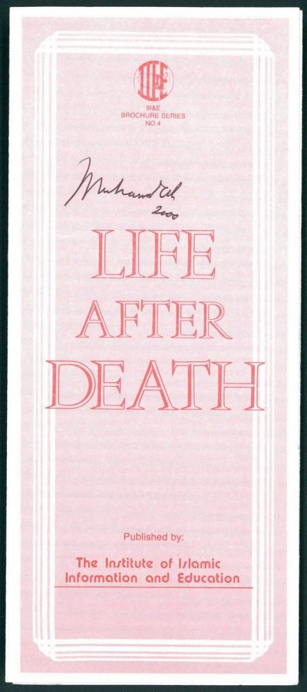 Muhammad Ali Signed Original Life After Death Religious Brochure