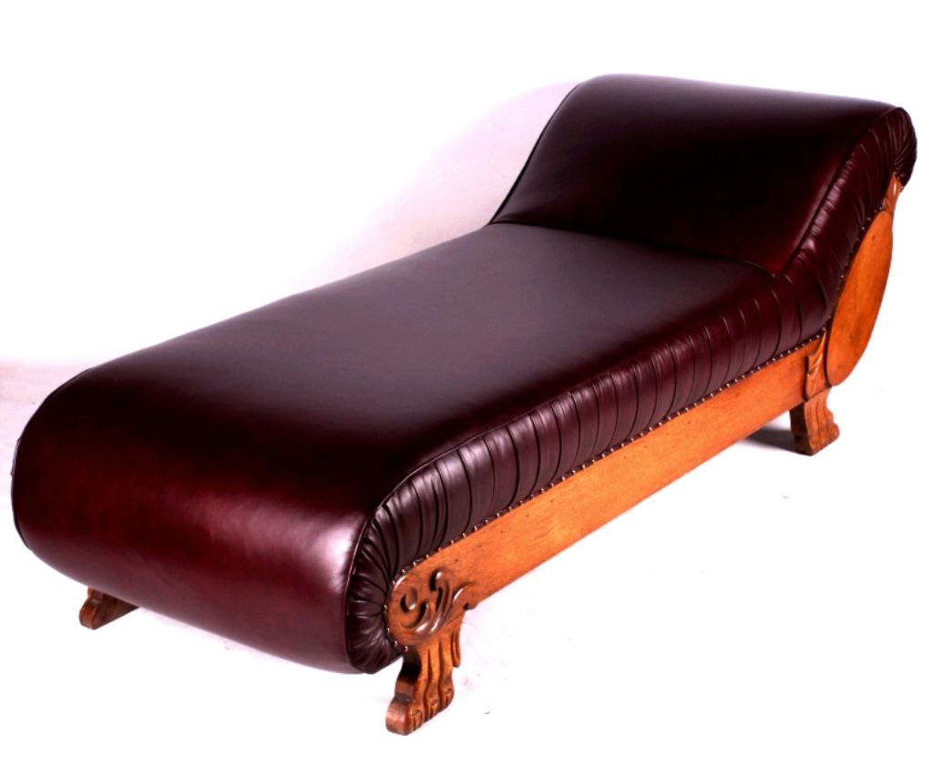 vintage fainting couch. Vintage Fainting Couch. Brilliant Couch Antique Oak And Leather  This Is An