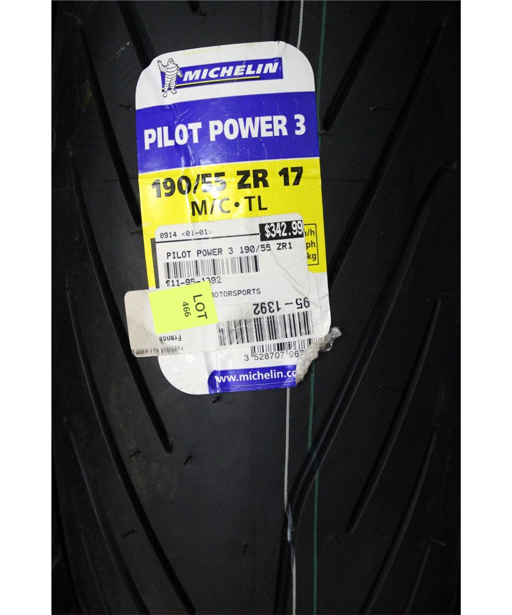 michelin pilot power 3 190 55zr17 motorcycle tire. Black Bedroom Furniture Sets. Home Design Ideas