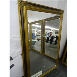"Ornate Mirror - Approx. 46"" x 70"" - No Shipping - The lettering is not etched. It is removable."