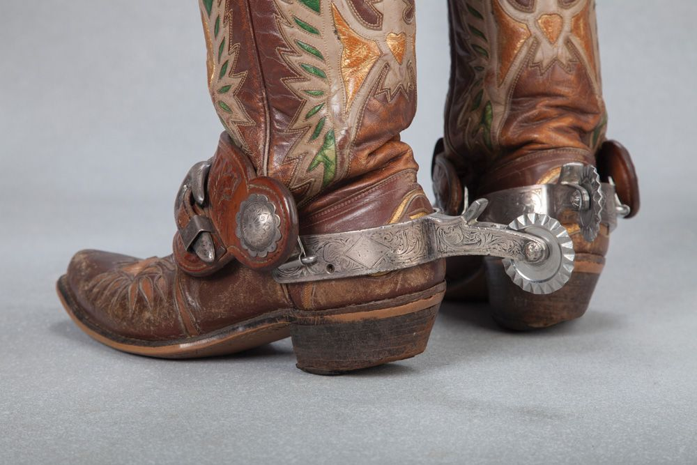 Roy Rogers Eagle Boots And Bohlin Spurs