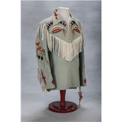 Roy Rogers' Nudie's Shirt with Embroidered Indian Motif