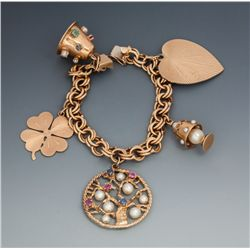 Mom's Gold Charm Bracelet from Roy and Dale