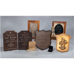 Lot of 15 Roy Rogers Awards and Plaques